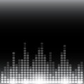 Grayscale digital equalizer background with flares rgb eps vector illustration Stock Images