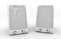 Grayscale speakers Royalty Free Stock Photography