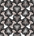 Grayscale vector ornamental pattern, seamless art background dec Royalty Free Stock Photo