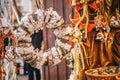 Graz, Austria - December 2017: Graz advent market store in the m Royalty Free Stock Photo