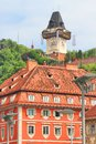 Graz Schlossberg Clock Tower Royalty Free Stock Photo