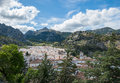 Grazalema村庄,安大路西亚,西班牙视图  免版税库存照片