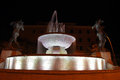 Graziosi s fountain in modena due fiumi by giuseppe at night italy Stock Image