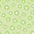 Grean floral pattern - simless Stock Photography