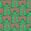 Grean Leaf Pattern Stock Image