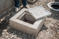 Grease trap Royalty Free Stock Photo