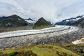 The great aletsch glacier in swiss alps biggest in europe Royalty Free Stock Image