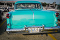 Great amazing rear view  of old classic vintage retro car Royalty Free Stock Photo