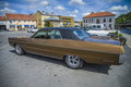 Great amcar plymouth sport fury restored classic american car the photo is shot at the fish market in halden norway Stock Images