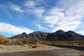 Great american road crossing huge death valley nevada Royalty Free Stock Images
