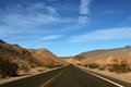 Great american road crossing huge death valley nevada Stock Photos