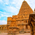 Great architecture of Hindu Temple Brihadishwara, India, Tamil N Royalty Free Stock Photo