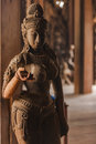 Great artwork of historical Buddhist Temple in Pattaya, Thailand Royalty Free Stock Photo