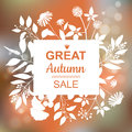 Great Autumn Sale Banner Royalty Free Stock Photo