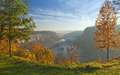 Great Bend Overlook At Letchworth State Park Royalty Free Stock Photo