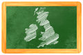 Great britain on blackboard drawn a Royalty Free Stock Photos
