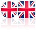 Great Britain button flag Stock Image