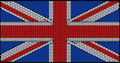 Great Britain Flag assembled of diamonds Stock Photography