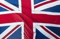 Great britain flag closeup of glossy of Stock Images