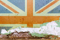 Great Britain flag painted on a concrete wall. Flag of United Kingdom. Textured abstract background Royalty Free Stock Photo