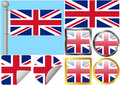 Great Britain Flag Set
