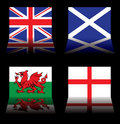 Great britain flags Stock Photography