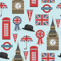 Great britain pattern Royalty Free Stock Photos