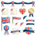 Great britain ribbons and seals Stock Photo