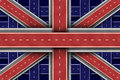 Great Britain Road Flag Stock Photos