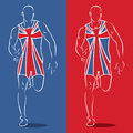 Great Britain runner Stock Photography