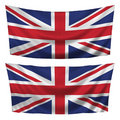 Great Britain textured horizontal flags Royalty Free Stock Photo