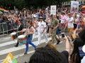 Great Britan Military at the  Capital Pride Parade in Washington DC Royalty Free Stock Photo