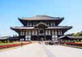 The great buddha hall of todaiji temple nara japan apr on april in this is house world s largest bronze Royalty Free Stock Photography