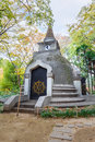 The great buddha hill in ueno park a chedi influence from indian style at situated with remain of daibutsu Stock Photography