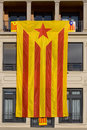 Great Catalan independentist flag Stock Photos