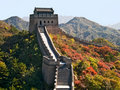 Great chinese wall Stock Images