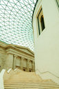 Great courtyard british museum london uk stairs in the Royalty Free Stock Photography