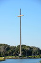 The great cross at st augustine scenic view of on shoreline of florida u s a Stock Photos