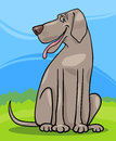 Great dane dog cartoon illustration Stock Photo