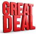 Great deal d abstract concept Royalty Free Stock Photo