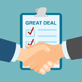 Great deal handshake. Royalty Free Stock Photo
