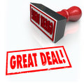 Great Deal Stamp Special Sale Bargain Discount Buy Royalty Free Stock Photo