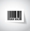 Great deals barcode upc code illustration design over white Stock Photo