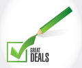 great deals check mark sign concept Royalty Free Stock Photo