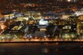 Great dome of mit boston massachusetts aerial view massachussets institute technology at night cambridge usa Royalty Free Stock Image