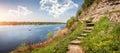 Great expanse of the Velikaya River Royalty Free Stock Photo