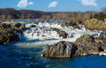 Great Falls on Potomac outside Washington DC Royalty Free Stock Photo