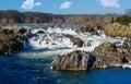 Great Falls on Potomac outside Washington DC Royalty Free Stock Photo