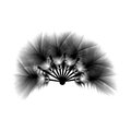 A great fan of fluffy feathers for carnival or masquerade, vecto