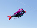 Great fish-like kite in the blue sky Royalty Free Stock Photo